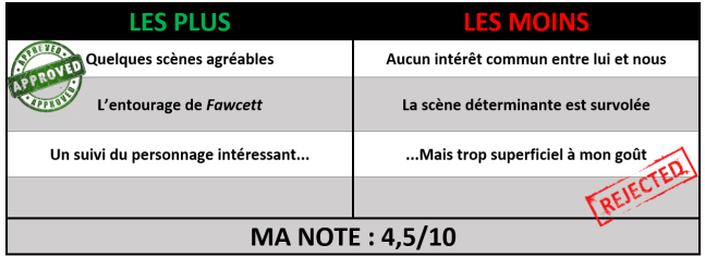 note The lost city of Z critique avec du recul avitique
