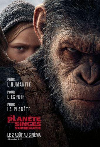 La planète des singes : Suprématie affiche critique avec du recul blogc